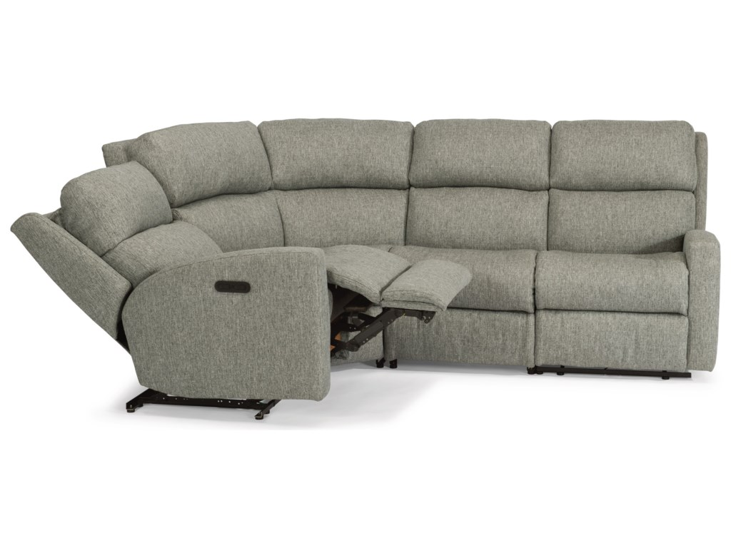 Flexsteel Catalina4 Pc Reclining Sectional w/ Pwr Headrests
