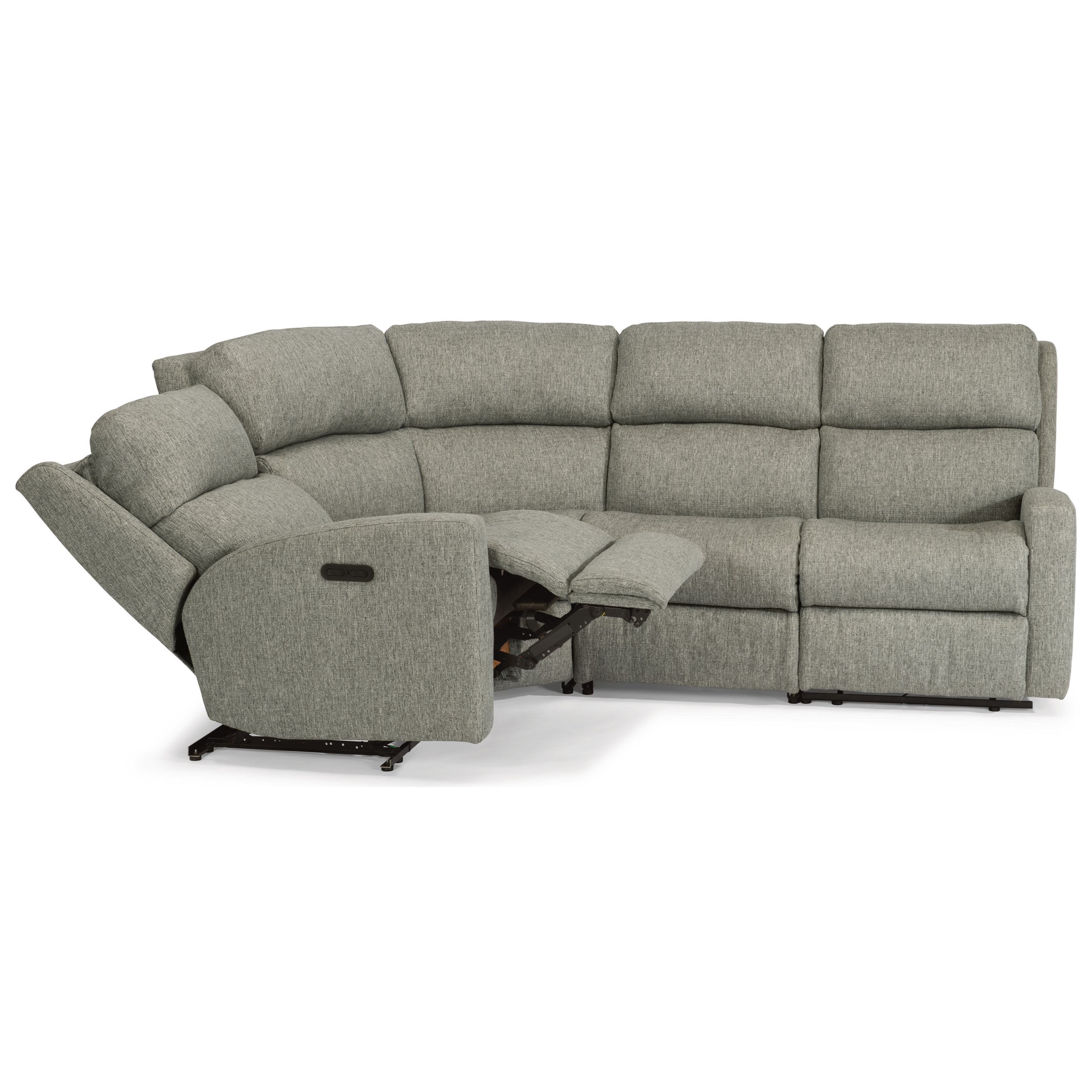 Flexsteel Catalina4 Pc Reclining Sectional W/ Pwr Headrests ...