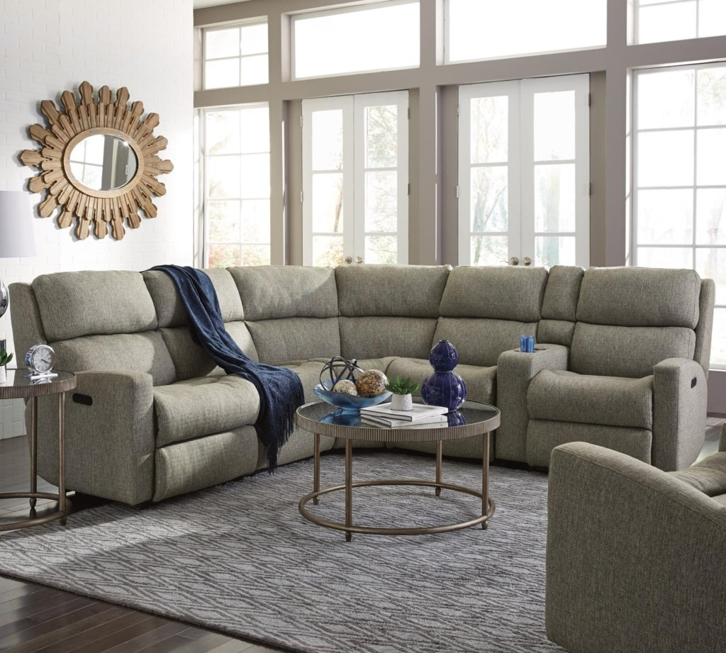 Flexsteel Catalina Six Piece Power Reclining Sectional Sofa With