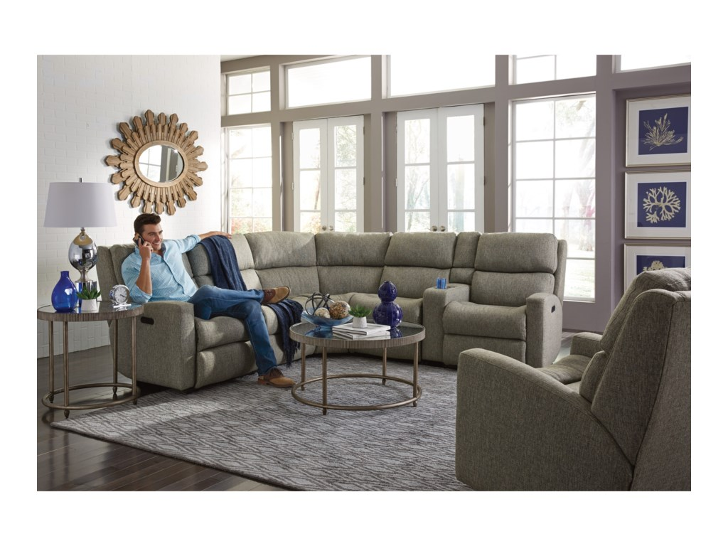 Flexsteel Catalina6 Piece Reclining Sectional