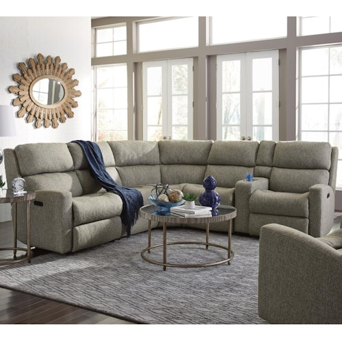 Flexsteel Catalina Six Piece Power Reclining Sectional Sofa