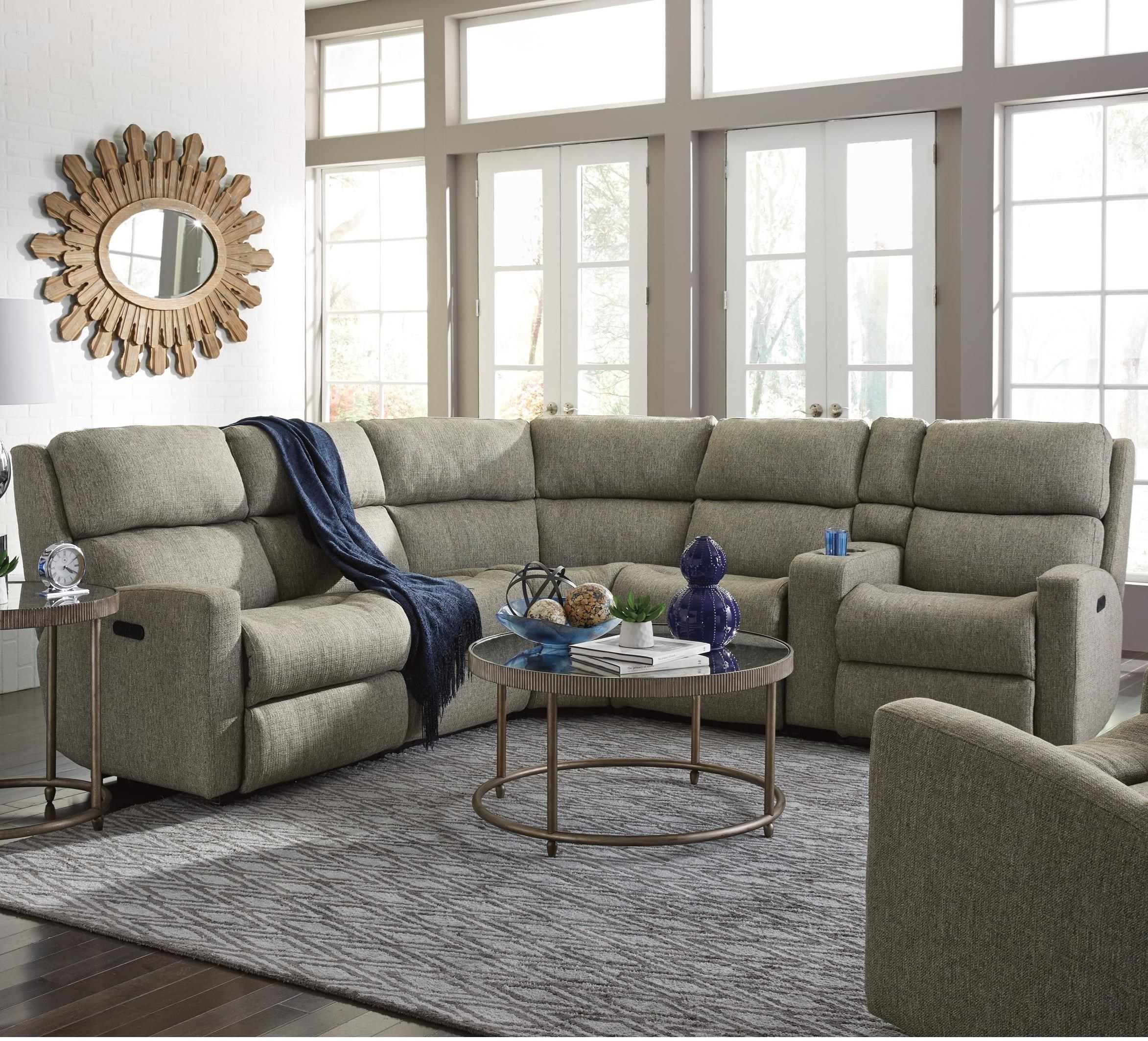 flexsteel catalina six piece power reclining sectional sofa