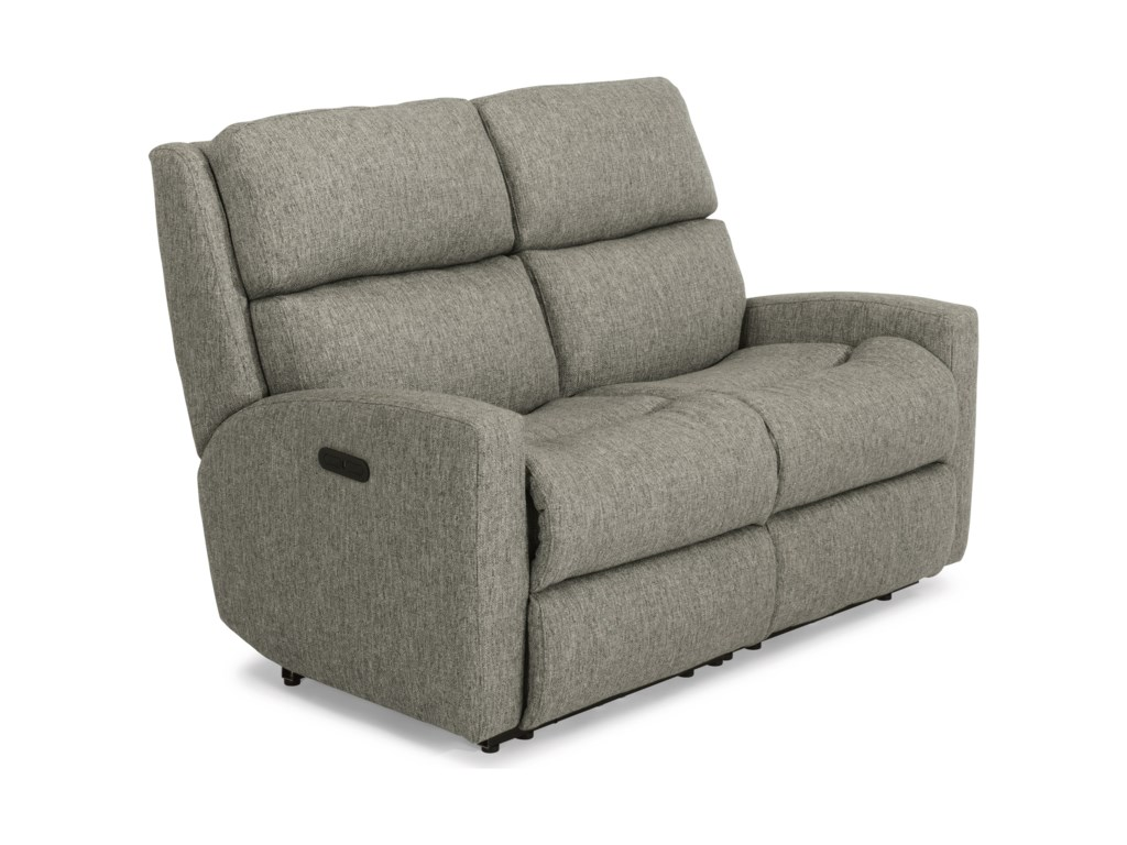 Flexsteel CatalinaPower Reclining Loveseat w/ Pwr Headrests