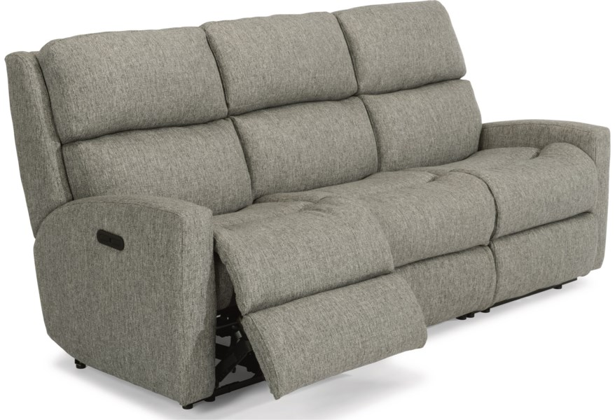 Catalina Contemporary Casual Reclining Sofa by Flexsteel at Dunk & Bright  Furniture