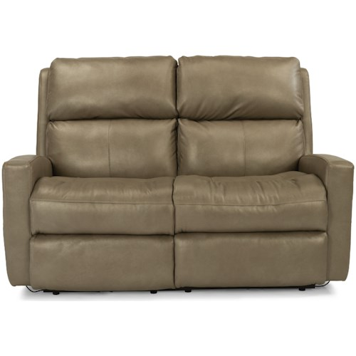 Flexsteel Catalina Contemporary Casual Reclining Loveseat