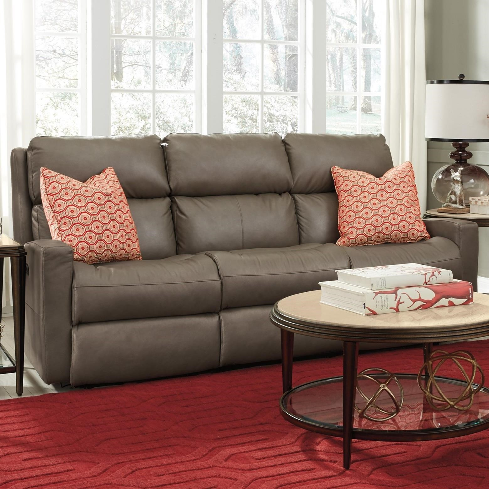 Flexsteel Catalina Contemporary Casual Power Reclining Sofa With Power  Headrests