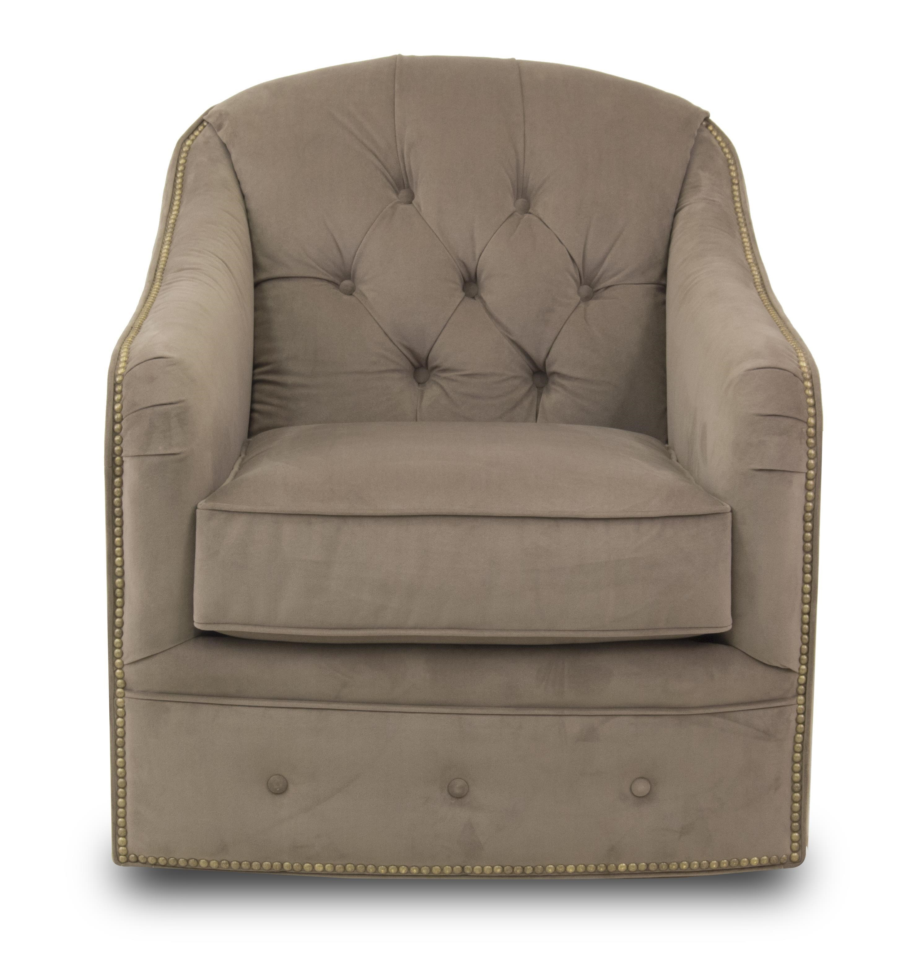 Flexsteel Champion Transitinal Button Tufted Chair With Rolled Arms And  Nailheads | Ruby Gordon Home | Upholstered Chairs