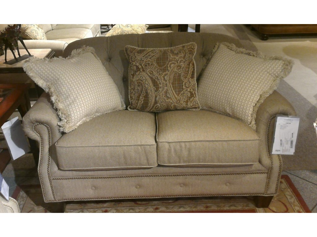 item height championloveseat button trim champion products width bmsbtwljthu loveseat threshold transitional rolled tufted flexsteel with