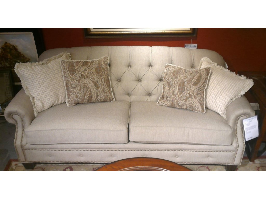 Flexsteel Champion 7386-31 Sofa Transitional Button-Tufted Sofa with ...