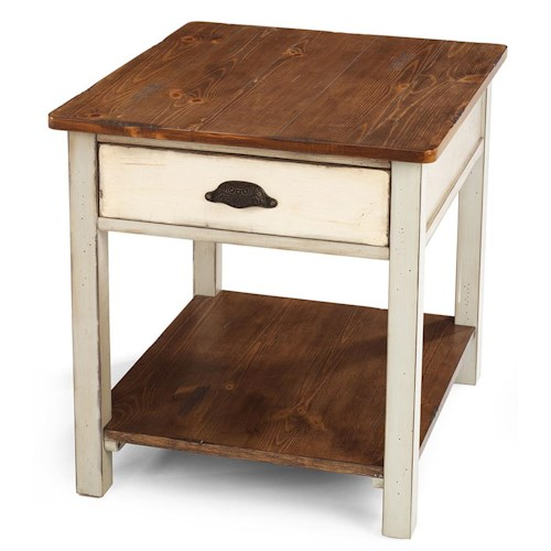Flexsteel Chateau Two Tone Drawer End Table