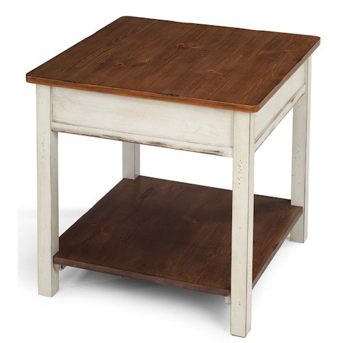 Flexsteel Chateau Two Tone Square End Table