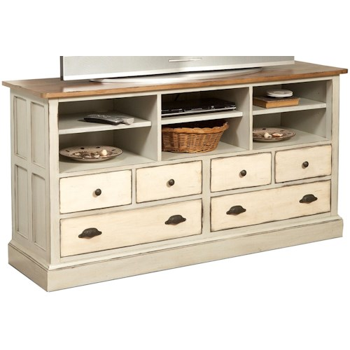 Flexsteel Chateau Two Tone Television Stand with 4 Drawers