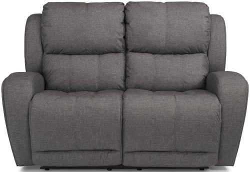 Flexsteel Latitudes - Chaz Power Reclining Loveseat with USB Ports