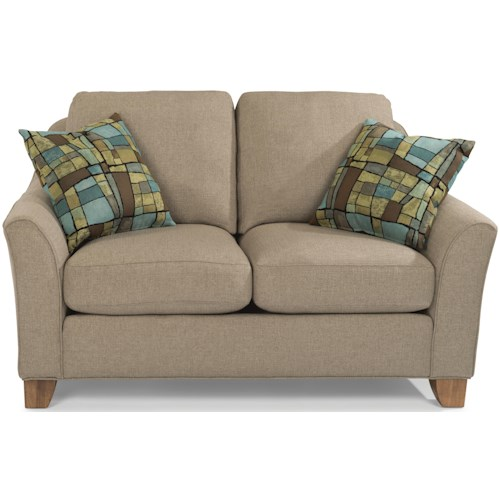 Flexsteel Claudine Loveseat with Flared Arms