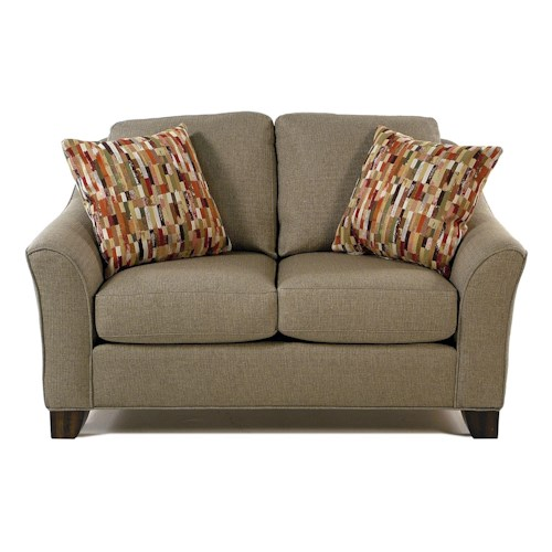 Flexsteel Caberet Loveseat with Flared Arms
