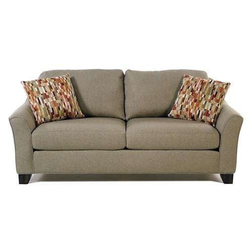 Flexsteel Caberet Two Seater Apartment Sofa with Flared Arms