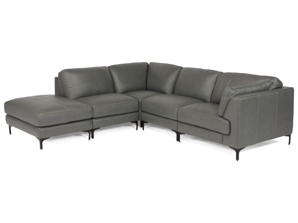 Flexsteel Latitudes-Cohen5-Piece Leather Sectional