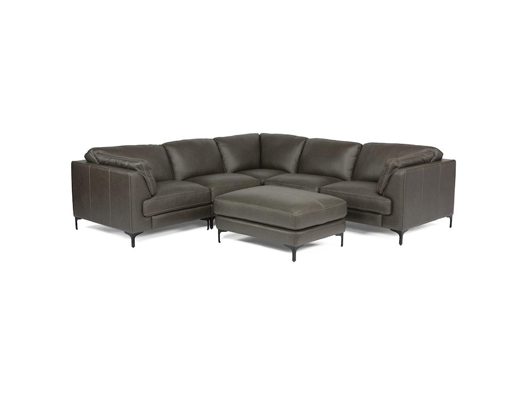 Flexsteel Latitudes-Cohen6-Piece Leather Sectional