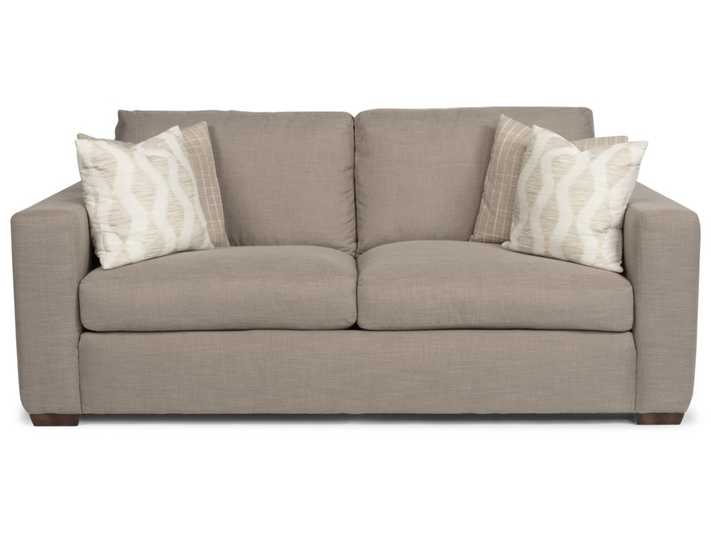 Collins Casual Two Cushion Sofa With Wide Track Arms By Flexsteel At Crowley Furniture Mattress