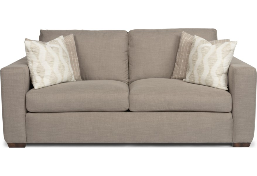 Collins Casual Two Cushion Sofa With Wide Track Arms By Flexsteel At Dunk Bright Furniture