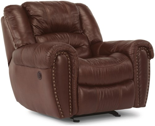 Flexsteel Crosstown Casual Power Recliner with Pillow Arms
