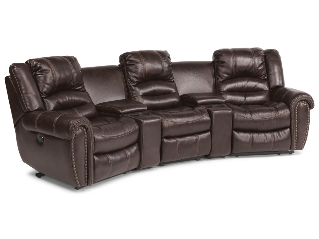 Flexsteel Crosstown5 Pc Power Reclining Home Theater Group