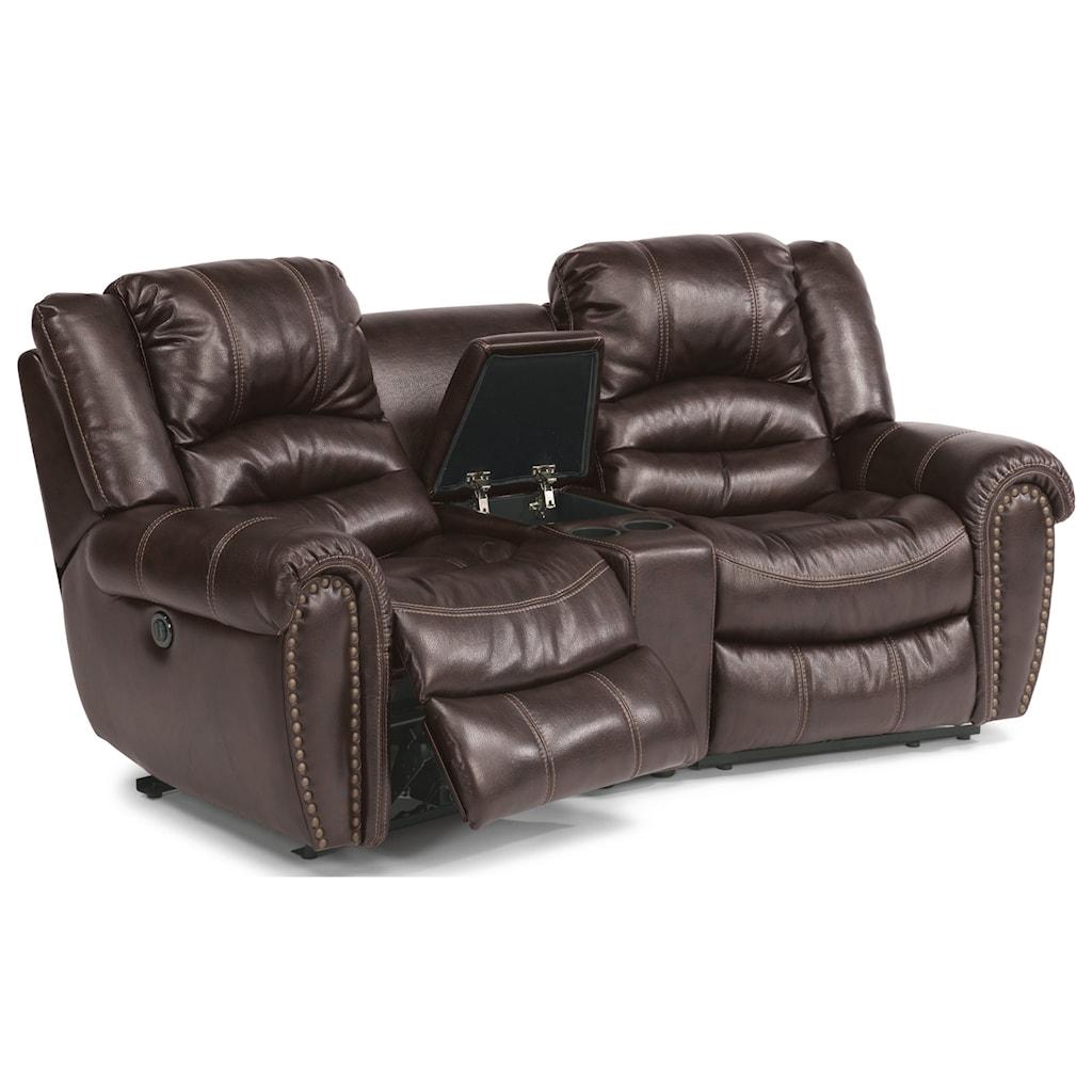 Flexsteel Crosstown Three Piece Power Reclining Sectional Sofa With