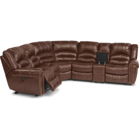 6 Pc Power Reclining Sectional Sofa