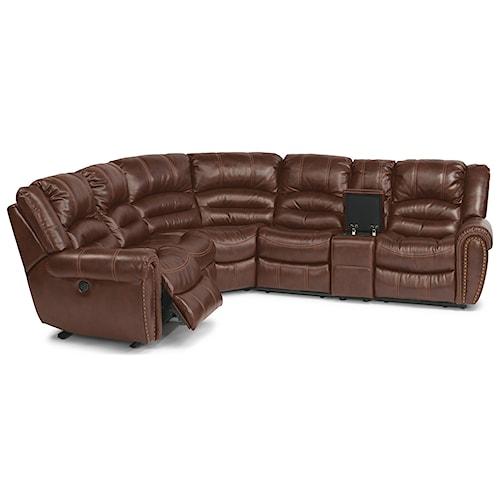 Flexsteel Crosstown Six Piece Power Reclining Sectional Sofa