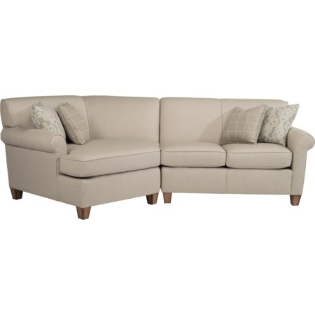 Sectional with Angled Chaise