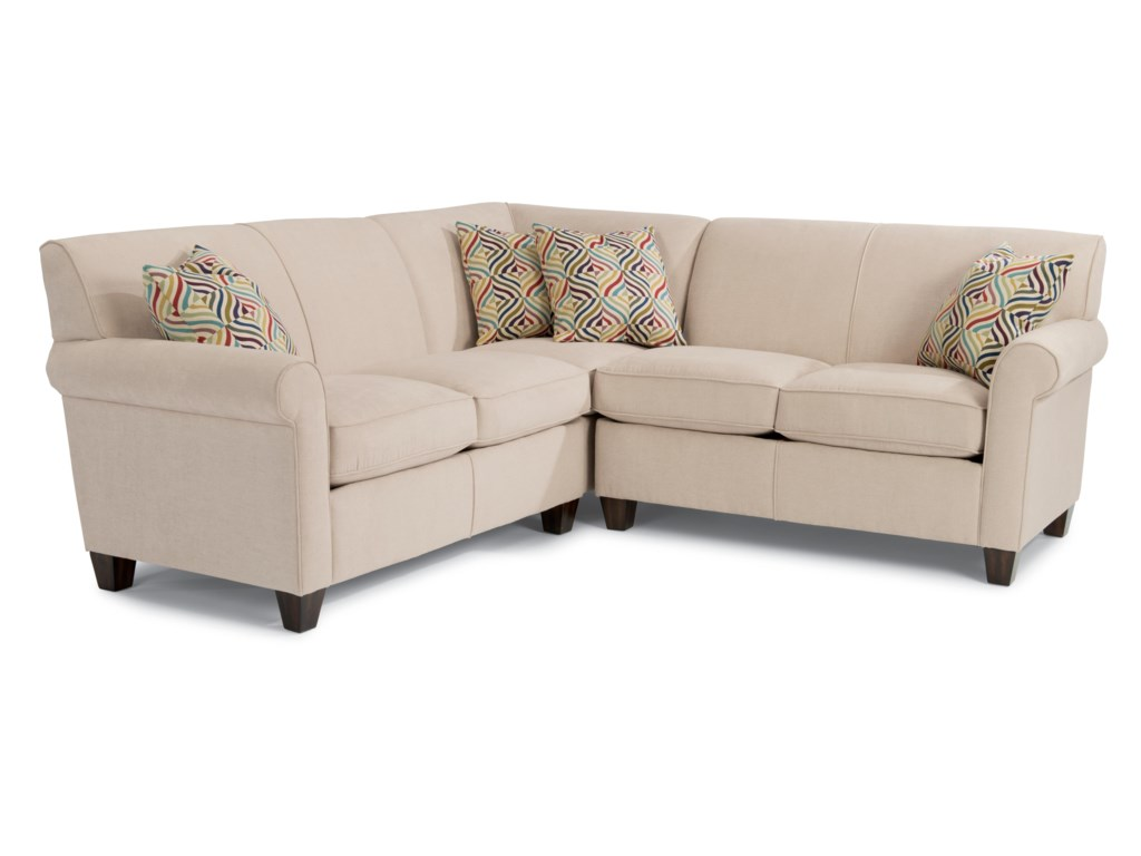 Dana Three Piece Corner Sectional Sofa by Flexsteel at Furniture and  ApplianceMart