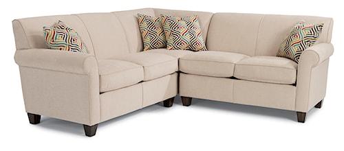 Flexsteel Dana Three Piece Corner Sectional Sofa