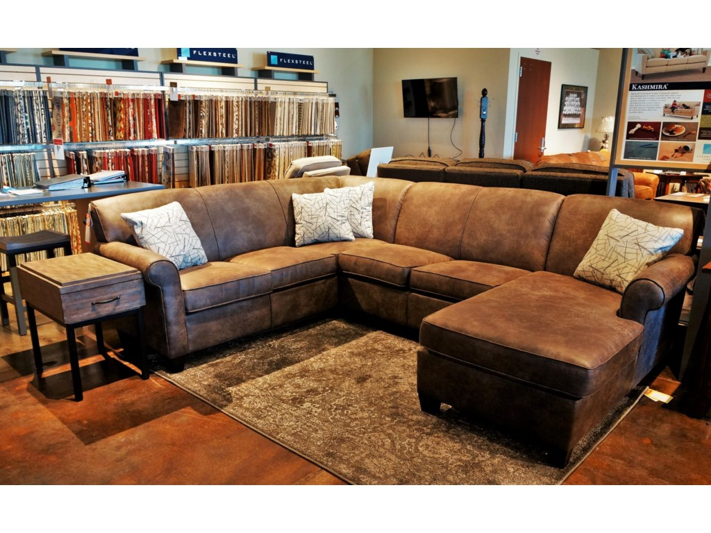 Flexsteel Dana Three Piece Corner Sectional Sofa | Mueller ...