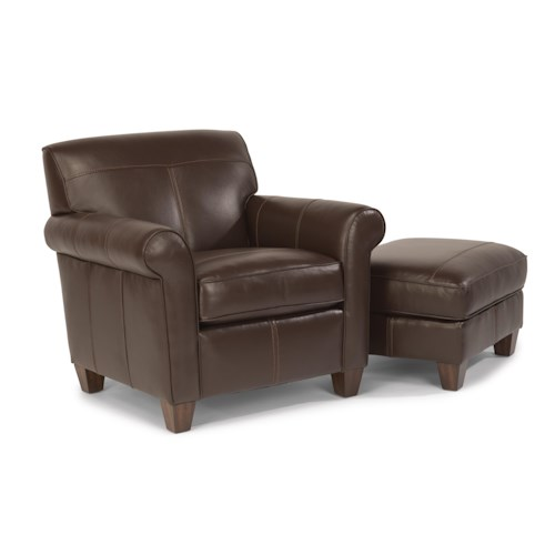 Flexsteel Dana Upholstered Chair and Ottoman
