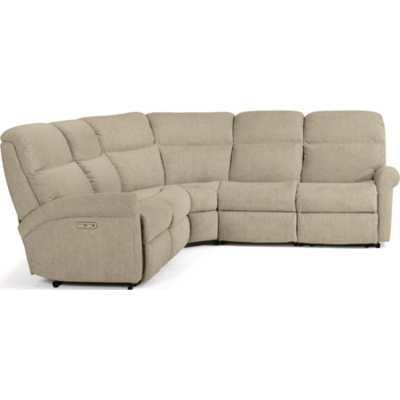 5-Pc Power Reclining Sectional with Power HR