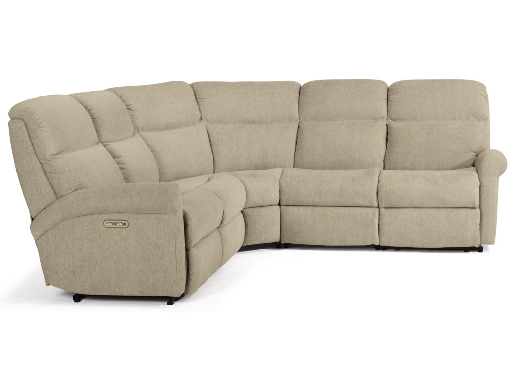Flexsteel Davis5-Pc Reclining Sectional