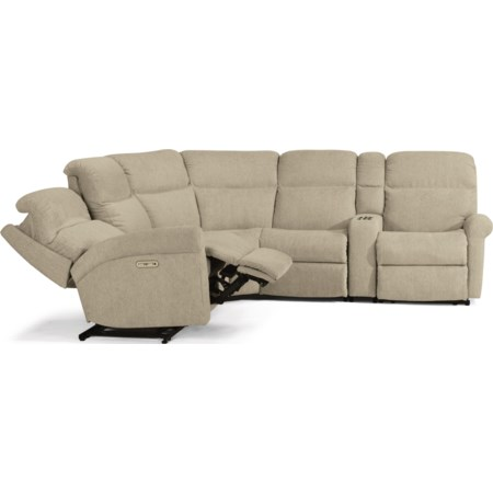 6-Pc Power Reclining Sectional w/ Pwr HR