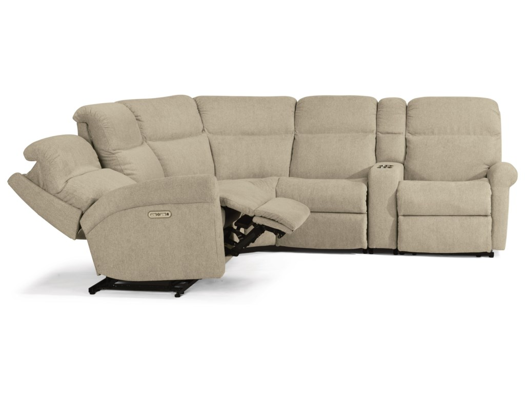 Flexsteel Davis6 Piece Power Reclining Sectional