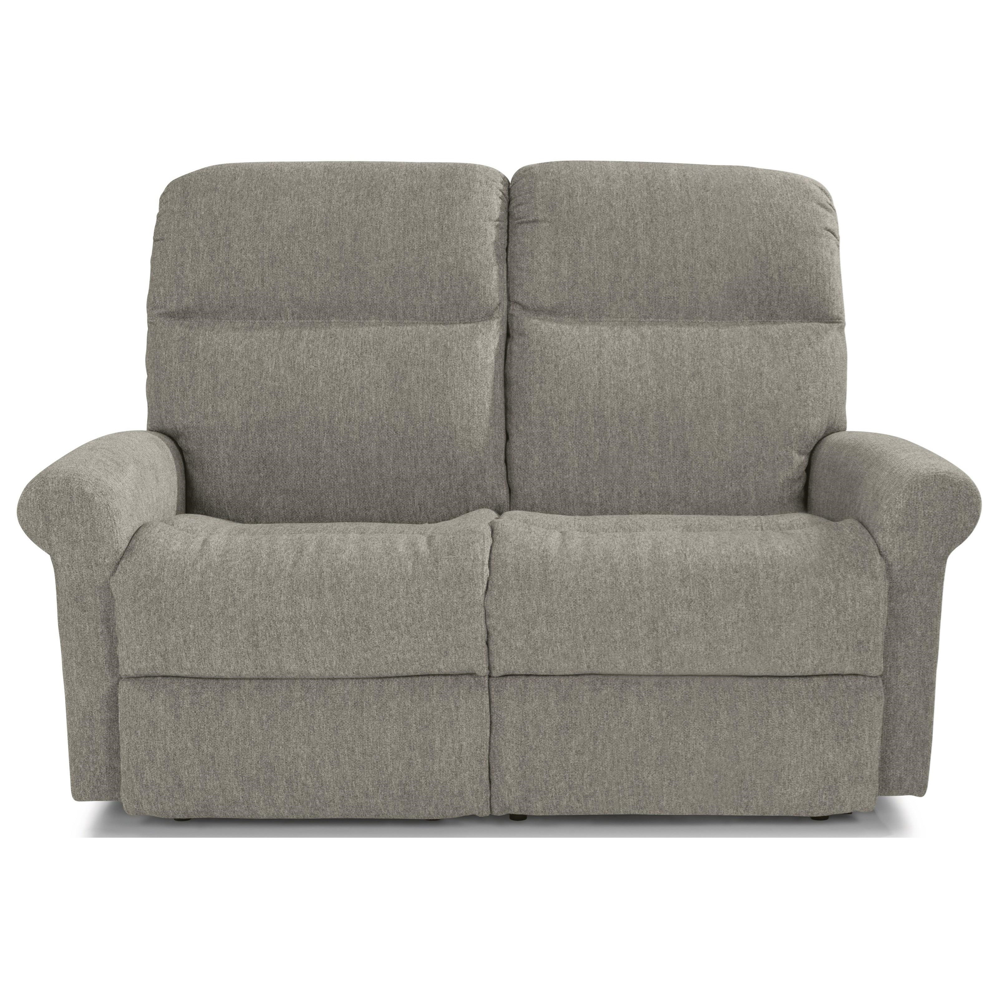 Casual Power Reclining Loveseat with Power Headrests and USB Charging Ports
