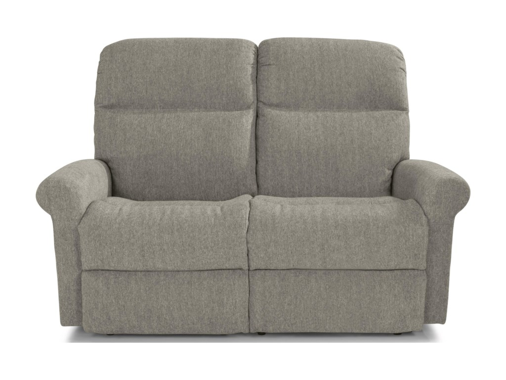Flexsteel DavisPower Reclining Loveseat with Power Headrest