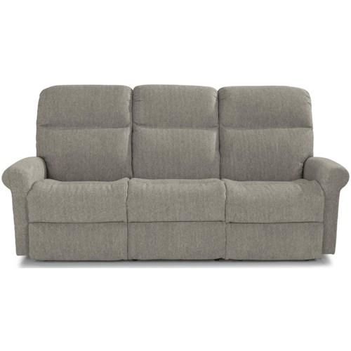 Flexsteel Davis Casual Power Reclining Sofa with Power Headrests and USB Charging Ports