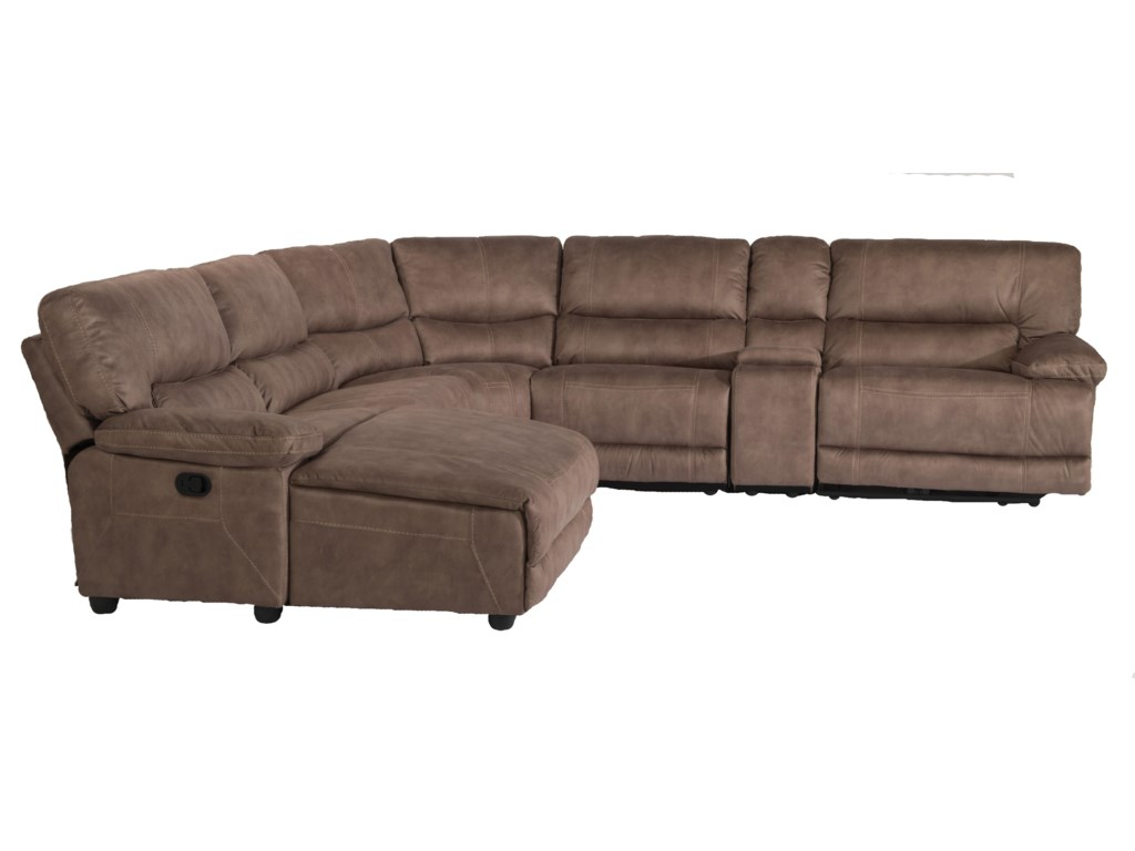 Flexsteel Latitudes - Delia6 Pc Reclining Sectional Sofa w/ LAF Chaise