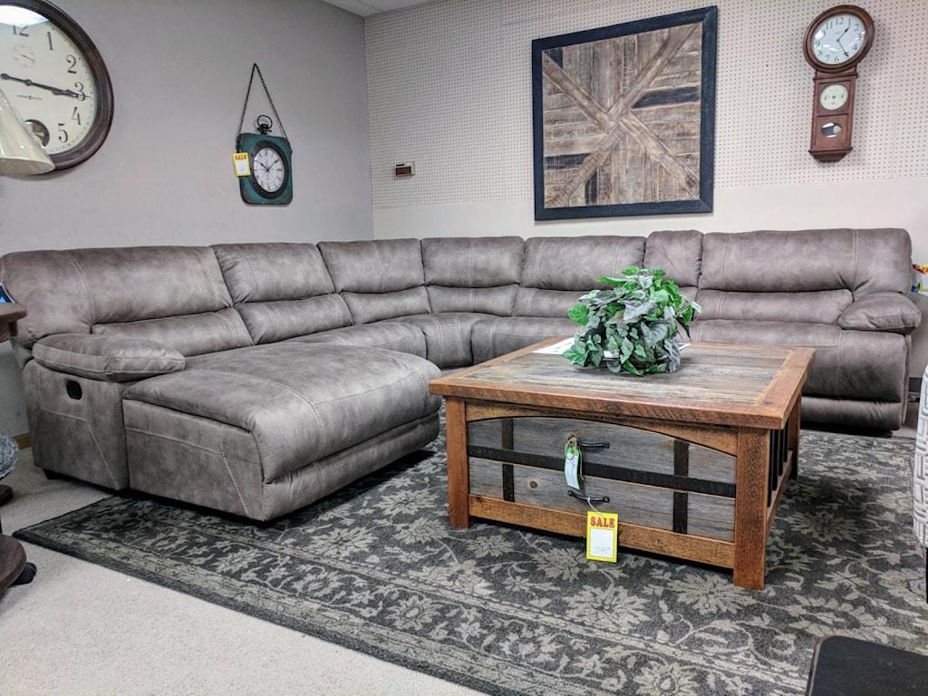 Flexsteel Latitudes - Delia6 Pc Reclining Sectional Sofa w/ LAF Chaise