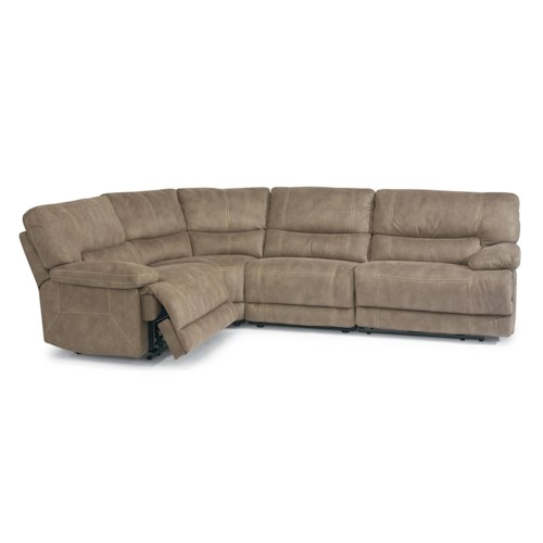 Flexsteel Latitudes - Delia Reclining Sectional Sofa with Large Pillow Arms