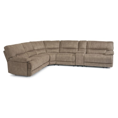 Flexsteel Latitudes - Delia Power Reclining Sectional Sofa with Armless Reclining Chairs