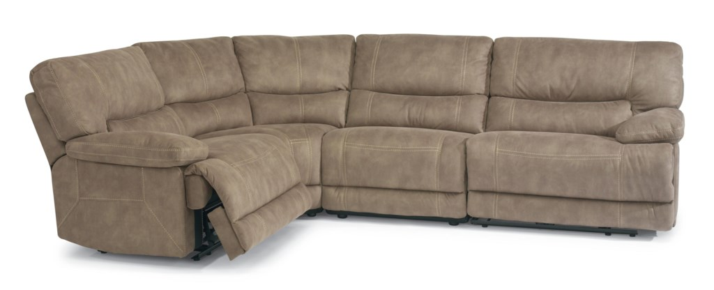 Flexsteel Latitudes Delia Power Reclining Sectional Sofa With  ~ Slipcover For Sectional Sofa With Recliners