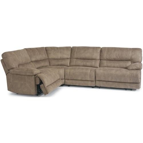 Flexsteel Laudes Delia Reclining Sectional Sofa With Armless Recliner