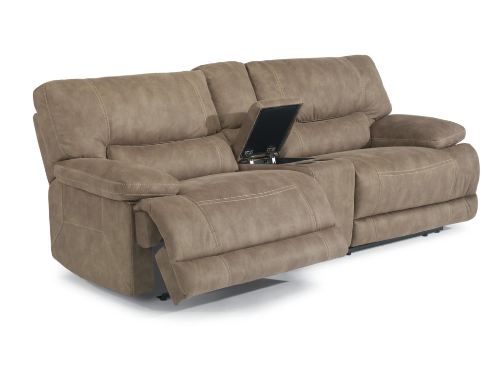Flexsteel Latitudes - DeliaPower Reclining Sectional Sofa