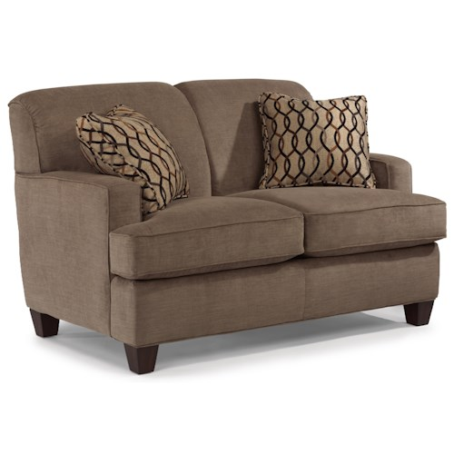 Flexsteel Dempsey Contemporary Loveseat with Track Arms
