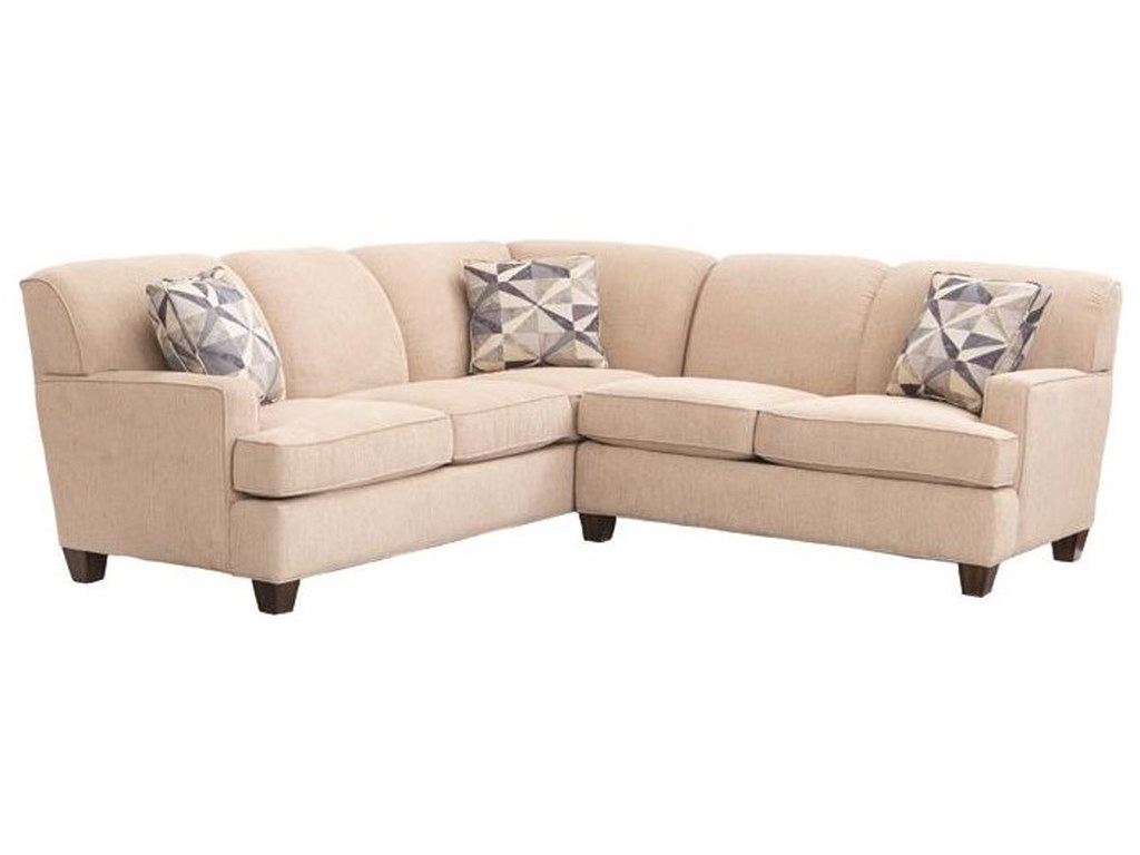 Flexsteel Dempsey Contemporary 2 Piece Sectional Sofa with RAF ...